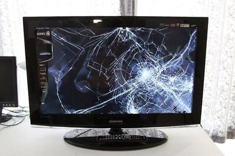 Broken TV Screens